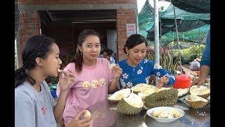Ăn sầu riêng 15 ngàn 1kg mà bị lên TV - Hương vị đồng quê - Bến Tre - Miền Tây