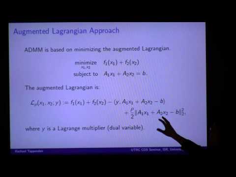 """UTRC CDS Seminar: Rachael Tappenden, """"Flexible ADMM for Big Data Applications"""""""