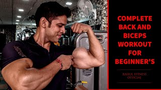 COMPLETE BACK AND BICEPS WORKOUT FOR BEGINNERS | RAHUL FITNESS OFFICIAL