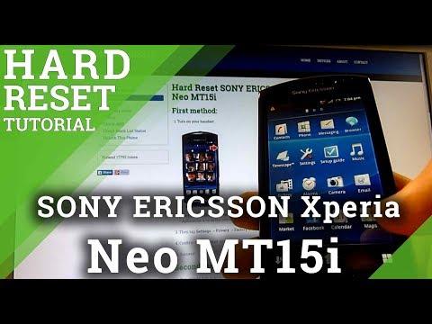 Hard Reset SONY ERICSSON Xperia Neo MT15i