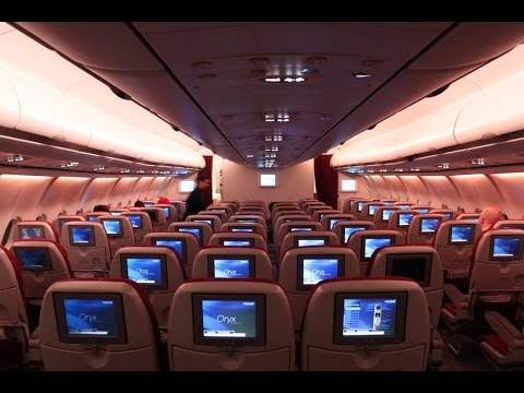 A340-600 QATAR AIRWAYS ECONOMY CLASS I DOHA-PARIS I