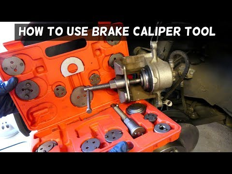 HOW TO USE BRAKE CALIPER  PISTON COMPRESSOR TOOL