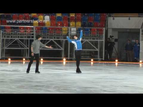 Stephan Lambiel, Johnny Weir rehearsal.mpg