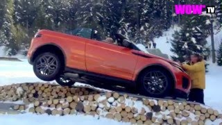WOW* TV : Range Rover Evoque Convertible flips over world premiere