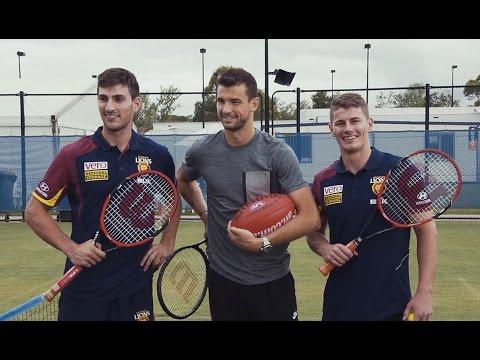 Kicking off! Dimitrov's AFL introduction - Brisbane International 2015