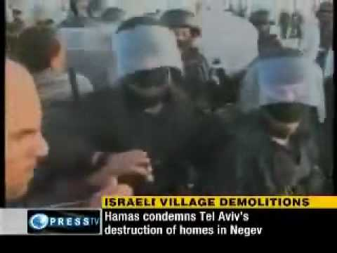 israel Destroys homes of some 300 Bedouins in Al-Araqib village.