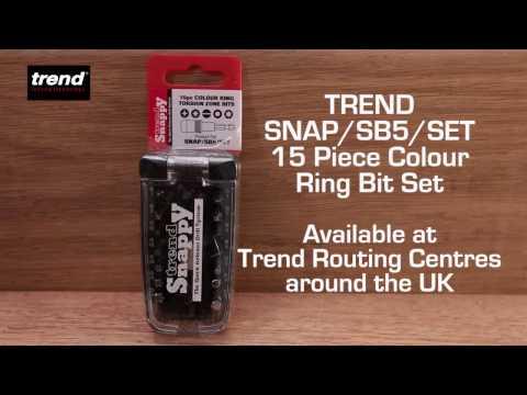 Trend Snappy 15pc Colour Ring Torsion Zone Bit Set