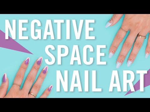 Negative Space Nail Art!
