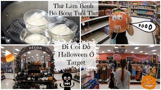 Đi Target Coi Đồ Halloween ♥  Thử Làm Bánh Bò Bông Tuổi Thơ | mattalehang