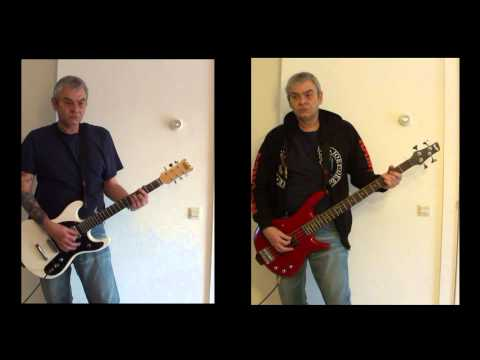 RAMONES - No Go (guitar & bass cover)
