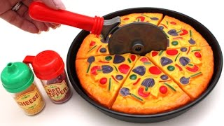 Pizza Toy Velcro Cutting Learning Fruits English Names Toys RL