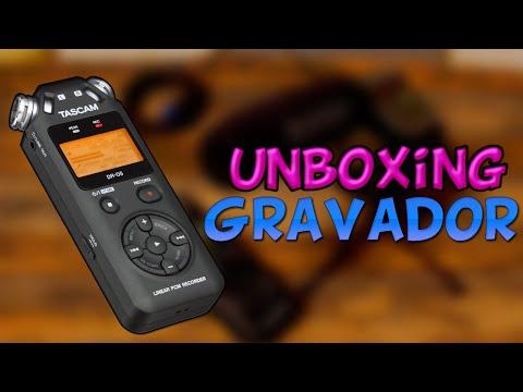 Unboxing e Teste de Qualidade: Gravador Tascam DR-05