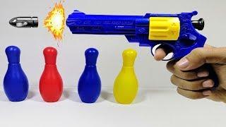 العاب اطفال لعبة المسدس الي بيضرب طلقات
