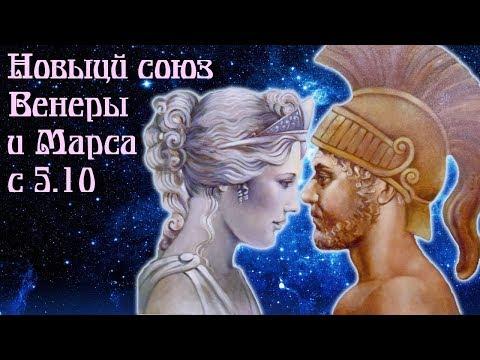 Новый союз Венеры и Марса с 5 октября на 2 года