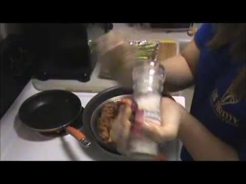 Receta de salmon con esparragos y papas majadas!