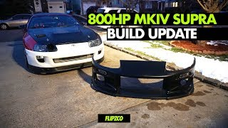 MKIV TOYOTA SUPRA BUILD UPDATE !!! NEW WHEELS, BUMPER, & QUICK RELEASE SPARCO WHEEL !!