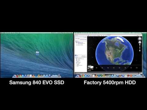 SAMSUNG 840 EVO SSD vs Factory MacBook Pro 5400rpm HDD