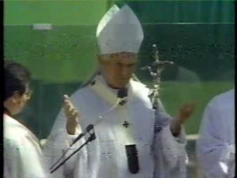 Pope John Paul II at Candlestick Park, San Francisco, 1987