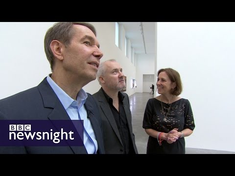 EXCLUSIVE: KIRSTY WARK MEETS DAMIEN HIRST AND JEFF KOONS - BBC Newsnight