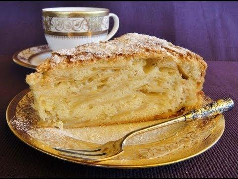 как приготовить пирог с яблоками в духовке видео
