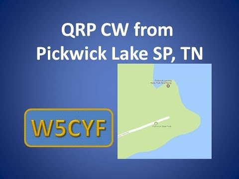 W5CYF QRP CW From Pickwick Lake SP, TN