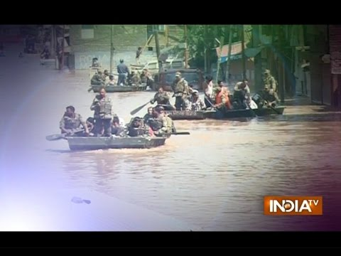 Narendra Modi reviews relief operations in flood-ravaged Kashmir