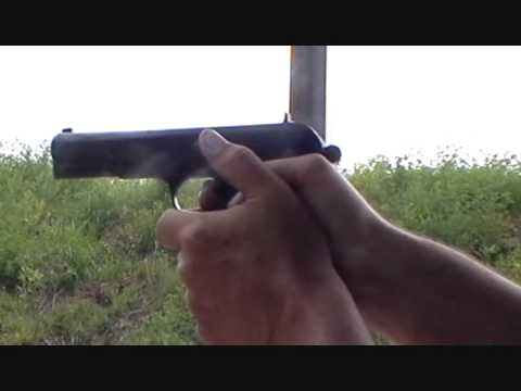 Tokarev TT33.  Shooting the modified Romanian Tokarev 7.62X25 caliber pistol