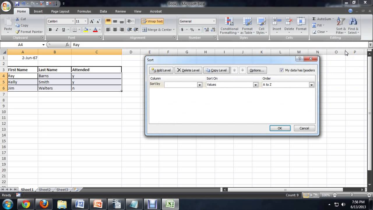 How to Make an Attendance Sheet in Microsoft Excel : Tech Niche ...