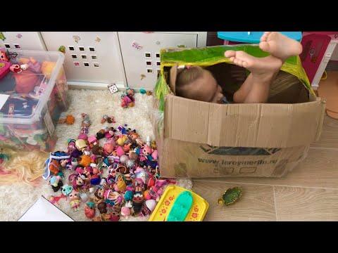 Алиса Снова Играет ! Большая Коробка с игрушками и ЛОЛ