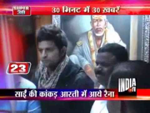 Suresh Raina Offers Prayers At Shirdi Shrine
