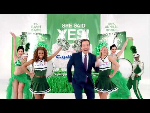 Yes - Jimmy Fallon featuring Tashi Capital One commercial