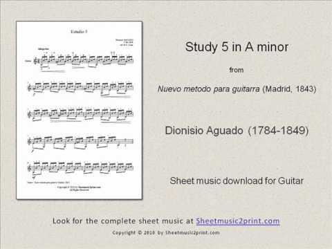 Dionisio Aguado - Aguado - Etude N 5 Metodo De Guitarra - First Part