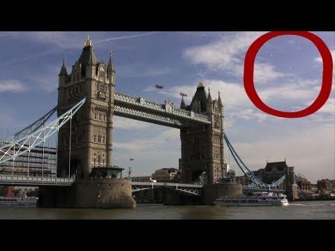 UFOs Over London Friday 2011 -  UFO Fleet Over Tower Bridge London 6/24/2011