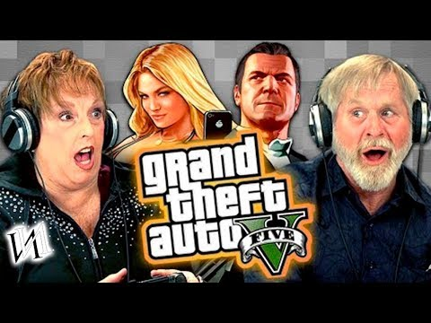 Реакция стариков на игру GTA V #1   Пенсионеры Иностранцы  играют в ГТА 5 [ИндивИдуалист]