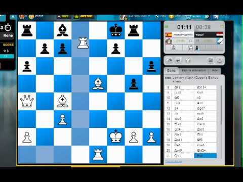 Clases de ajedrez online. Torneo en directo chesscube, partidas a 2 minutos MI Fermin Gonzalez