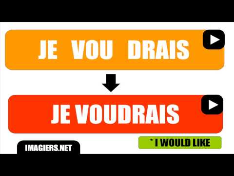 [HD] French pronunciation # JE VOUDRAIS