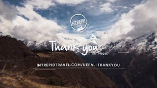 Thank you from Nepal & Intrepid