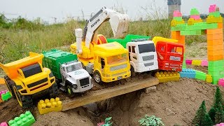 Excavator & Dump Truck Construction Vehicles Toy For Kids | Garbage Truck for Children | TOTOTV Toys