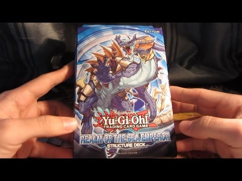 YuGiOh Realm of the Sea Emperor Structure Deck Opening