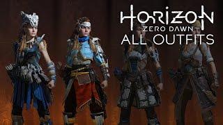 Horizon Zero Dawn - All Outfits/Clothes/Skins (Very Rare/Rare/Uncommon Gears)