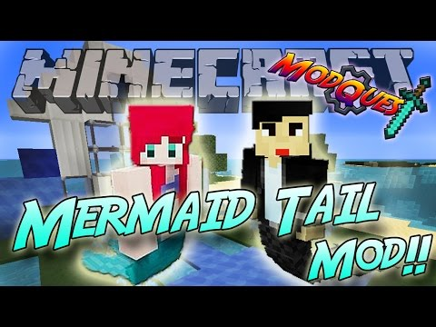 Minecraft: Mermaid Tail Mod! Swim like a Mermaid! - Mod Showcase