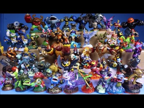 Skylanders Figures Collection Haul Hunting Review unboxing Superchargers Trap Team Giants Swap Force