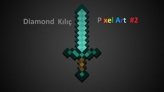 Minecraft-Pixel Art-Diamond Kılıç #2