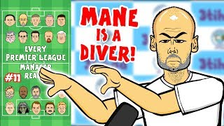 🤿MANE IS A DIVER!🤿 #11 Every Premier League Manager Reacts