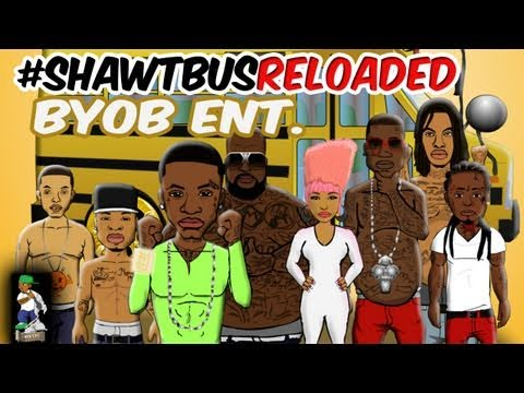 #ShawtBusReloaded ( @BYOBent Nicki Minaj Lil Wayne Gucci Mane parody cartoon)