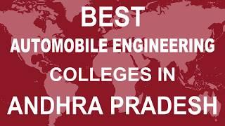 Best Automobile Engineering Colleges in Andhra Pradesh