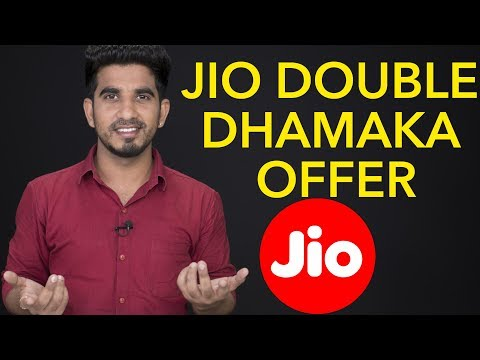 JIO double dhamaka offer, plan [Hindi-हिन्दी]