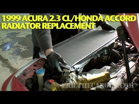 How To Replace a Radiator 1999 Acura 2.3 CL/Accord -EricTheCarGuy