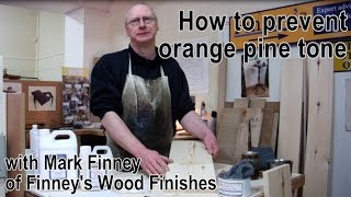 How to make wood lighter - removing / preventing orange tone on Pine