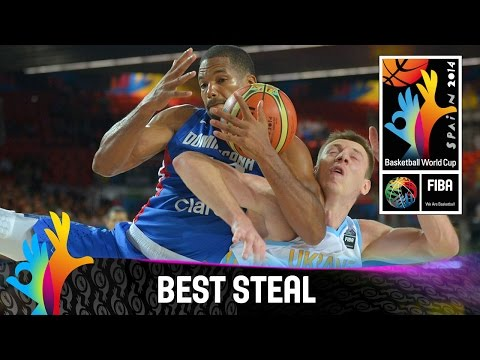 Ukraine V Dominican Republic - Best Steal - 2014 Fiba Basketball World Cup video